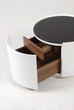 Stolik nocny, kawowy Soriano biały 53 x 53 x 38,5cm
