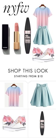 """""""Hehe"""" by miapizza ❤ liked on Polyvore featuring Chicwish, Converse, Maybelline and Chanel"""