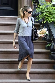 Sarah Jessica Parker - casual lady - this is very pretty and can be worn with pretty flats if you're not up for the heels.