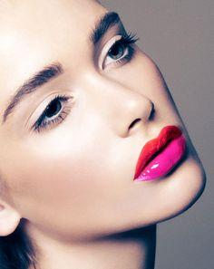 Dual tone lip color. Love!!