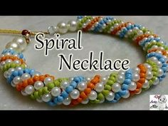 #43 How to make Pearl Beaded Spiral Necklace (Type 1) || Diy || Jewellery Making - YouTube