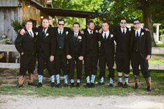 Fun groomsmen socks for wedding