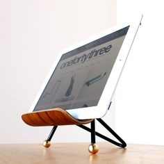 Molded plywod iPad stand, by onefortythree ($50)