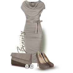 A fashion look from March 2013 featuring Donna Karan dresses, AllSaints pumps and Heidi Mottram clutches. Browse and shop related looks.