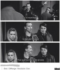 "Jack's just like ""Are you freaking kidding me, Doctor?"" but Rose is like, ""Seriously? Oh my god, Doctor."""