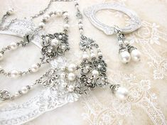 Hey, I found this really awesome Etsy listing at https://www.etsy.com/listing/274766300/swarovski-white-pearl-wedding-jewelry