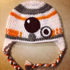 bb8 crochet hat