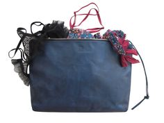 Large leather clutch hand dyed in Indigo - TIMBUKTU | SPRING FINN & CO