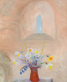 Winifred Nicholson, Daffodils and Hyacinths in a Norman Window, 1950-55 (circa), Kettle's Yard, University of Cambridge