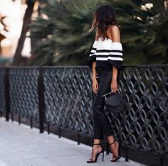 OTS top + black and white