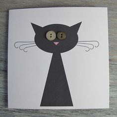 button cat card. easy. adaptable to other projects too