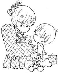 I look up to you - Precious Moments coloring pages.