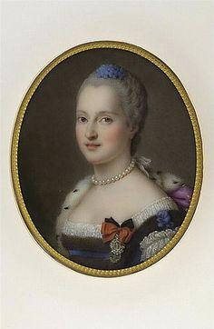 Marie-Josephe de Saxe, Dauphine de France (1731-1767), by Marie Victoire Jaquotot after Maurice Quentin de Latour (Louvre)