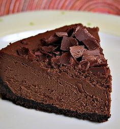 Triple Chocolate Espresso Cheesecake is dense, dark, and deeply good.