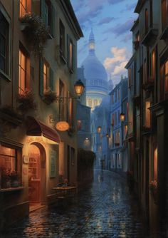 Recontre Fortuite, Evgeny Lushpin art: Originals and Giclee Prints