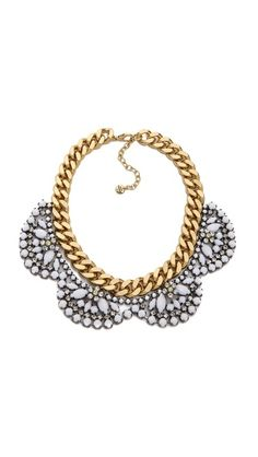 Juicy Couture Brillant Blooms Flower Cluster Necklace- white and gold ALWAYS work <3