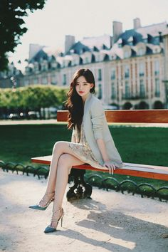 Amelie dress line. Beautiful Young Lady, Beautiful Asian Women, Korean Beauty, Asian Beauty, Asian Fashion, Girl Fashion, Best Fashion Photographers, Girls In Mini Skirts, Cute Korean Girl