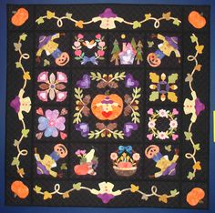 Fall Baltimore Album by Jim Pilarski, 2008.  Hand applique, reversible, quilt-as-you-go.