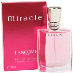 Miracle By Lancome Eau De Parfum _Natural Spray 30ml NEW & Sealed