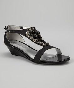 Black Felicia Sandal #zulily #zulilyfinds