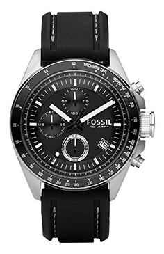 Fossil Mens CH2573 Decker Stainless Steel Chronograph Watch With Black Silicon Band http://ift.tt/2jYISN4