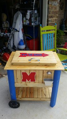 Ole Miss cooler stand
