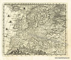 Europae - Antique Maps and Charts – Original, Vintage, Rare Historical Antique Maps, Charts, Prints, Reproductions of Maps and Charts of Antiquity
