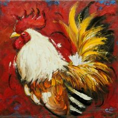 Drunken Cows - Whimsical Fine Art by Roz Chicken Images, Chicken Pictures, Rooster Painting, Rooster Art, Chicken Painting, Chicken Art, Cross Paintings, Animal Paintings, Original Paintings