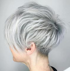 Shaggy Silver Pixie Cut