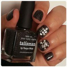 Halloween nails picture polish Talisman & Nailsinc studs