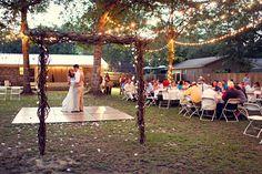 Backyard Wedding.. I love everything they made