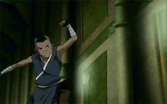 Sokka (gif) this is me trying to attack my little sister who is 20x stronger than me.