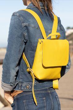 Handmade Leather Goods from Spain Prada Tote Bag, Cute Bags, Mini Backpack, You Bag, Fashion Backpack, Leather Bag, Backpacks, Outfit, Womens Fashion