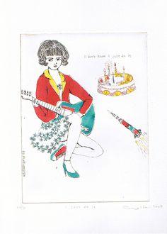 Gravures & Estampes | Atsuko Ishii | I just do it | Tirage d'art en série limitée sur L'oeil ouvert