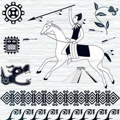 American patterns and horseman #GraphicRiver Vector image of ancient American patterns and horseman. Package contains: EPS (8 version), JPG (5000×5000 pixels, RGB ) Created: 4July12 GraphicsFilesIncluded: VectorEPS Layered: No MinimumAdobeCSVersion: CS Tags: Yucatan #american #ancient #aztec #border #culture #dragon #element #flower #god #history #horse #horseman #indian #jungle #maya #mayan #mesoamerican #mexico #native #ornaments #pyramid #ritual #sacrifice #spirit #tattoo #temple #toltec…