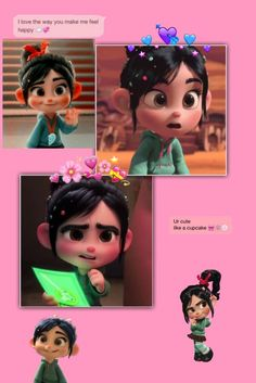 Vanellope Von, Bff Drawings, Wreck It Ralph, Aesthetic Wallpapers, Kawaii Anime, Disney Characters, Fictional Characters, Minnie Mouse, Pastel