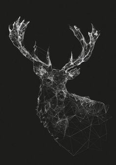 Art Illustration / Stag by Jordan Rogers Art And Illustration, Animal Illustrations, Design Art, Web Design, Design Model, Inspiration Art, Design Graphique, Grafik Design, Geometric Art