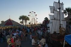 On October 8-11, Tybee Island, Georgia, will celebrate its 11th Annual Tybee Island Pirate Fest. Swashbucklers, wenches, & scallywags of all ages will converge on Tybee Island, celebrating the colorful, seafaring history of the Georgia coast.