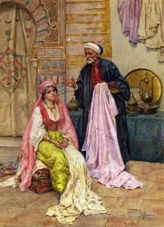 Giulio Rosati (Italian, 1858-1917) Orientalist artist.
