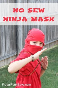 How to turn a t-shirt into a ninja mask with no sewing or cutting!