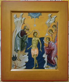 Baptism Of Christ, Jesus Christ, Orthodox Icons, Christianity, Scene, Painting, Lord, Beauty, Painting Art
