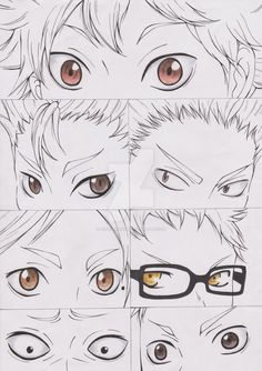 Haikyuu Eyes by ScarletAngie [Don't know what that is, but that's impressive pencil shading.]