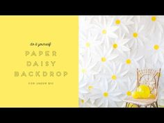How to make a paper daisy backdrop - YouTube