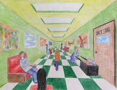 Students learn about 1, 2, and 3 point perspective in this information-packed lesson!