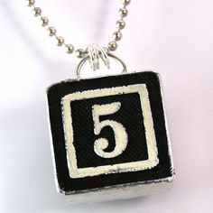 Number 5 Pendant $20