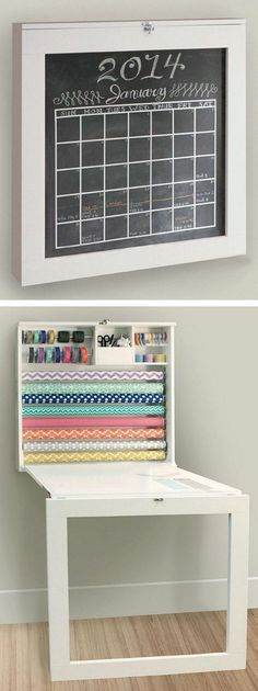 Fold Down Gift Wrap Station