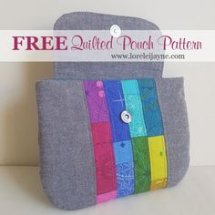 quilted pouch sewing pattern
