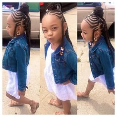 On the go as usual she has to much energy @braids_bylauren__ did that Little Girl Braid Styles, Kid Braid Styles, Little Girl Braids, Black Girl Braids, Braids For Kids, Braids For Black Hair, Girls Braids, Kid Braids, Tree Braids