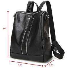JeHouze Fashion Women Handbag Genuine Leather Backpack Casual Shoulder Bag - JeHouze.US