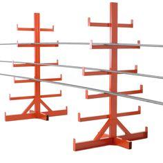 Value Cantilever Bar Storage Racks Steel Storage Rack, Lumber Storage Rack, Lumber Rack, Steel Racks, Shop Storage, Storage Design, Welded Metal Projects, Welding Projects, Electrical Shop